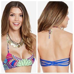 MARA HOFFMAN Ganesh Sky Basket Weave Bikini Top XS